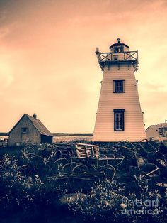 Lighthouse Prince Edward Island by Edward Fielding - Lighthouse Prince Edward Island Photograph - Lighthouse Prince Edward Island Fine Art Prints and Posters for Sale Lighthouse Keeper, Prince Edward Island, Sale Poster, Lighthouses, Fields, Beautiful Places, Louvre, Photograph, Around The Worlds