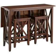 Kenzie Breakfast Table Set - Mahogany Brown - Home Decor Furniture Ideas