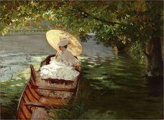 Giuseppe_de_Nittis_(italian1846_1884)_In_Canotto_(Woman_in a canoe)