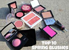 Top 10 Favorite Blushes for Spring.  Click thru for details.