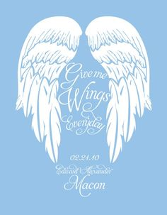 Custom Name Angel Wings
