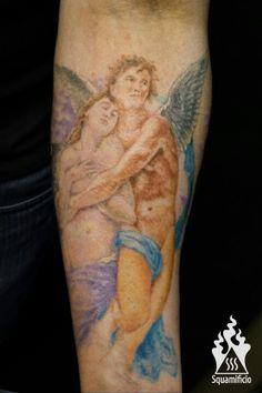 Amore e psiche angel tattoo