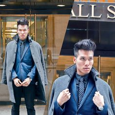 Get this look: http://lb.nu/look/6867172  More looks by Dathias Hoang: http://lb.nu/hoangdat  Items in this look:  H&M Topcoat, H&M Blazer, H&M Skull Tie, Daniel Wellington Watch, Uniqlo Pants   #dapper #edgy #formal
