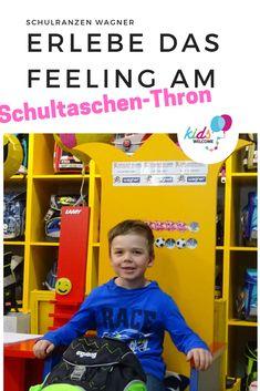 Hier sitzen deine Kinder am Schultaschen-Thron ... #schultasche #familienfreundlich #schulranznwagner #kidswelcome Kids, Back To School, Business, Proud Of You, Parents, Shopping, Young Children, Boys