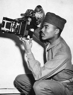 He Documented Atrocities (1943)    Sgt. William A Scott, III -- was a military photographer with the 183rd Engineer Combat Battalion   Concentration Camp.His photographs recorded African-American soldiers at the liberation of the Buchenwald concentration camp. Scott's pictures are now part of a video record of the liberation of Buchenwald on display at the U.S. Holocaust Museum in Washington, D.C.