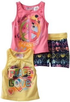 Young Hearts Baby-girls Infant 3 Piece Peace Short Set, Yellow, 24 Months Young Hearts. $13.50