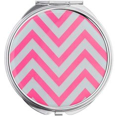 Miss Selfridge Zig Zag Compact Mirror (59 CNY) ❤ liked on Polyvore featuring beauty products, beauty accessories, silver color and miss selfridge