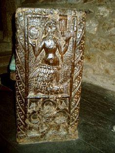 THE MERMAID OF ZENNOR   Zennor, Cornwall: The bench-end of the Mermaid Chair at St Senara's Church     ✫ღ⊰n