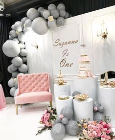 54 Ideas birthday decorations balloons bridal shower for 2019 Classy Birthday Party, Baby Party, Baby Birthday, 1st Birthday Parties, Birthday Ideas, Bridal Shower Decorations, Balloon Decorations, Birthday Decorations, Wedding Decorations