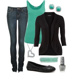 turquoise & black.  my 2 favorite colors!