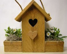 plans for decorative birdhouses | bird house trim your bird house with plants and flowers