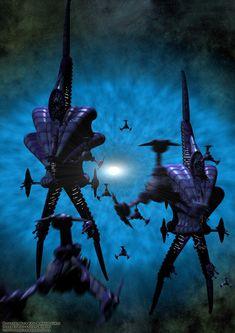 Babylon 5: The Minbari ships. It's a trap by Magmarama.deviantart.com on @deviantART
