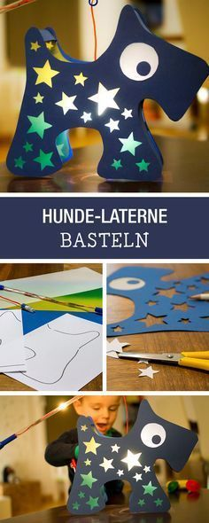 DIY-Anleitung: Laterne mit Sternen für kleine Hundefreunde basteln, Laternenumzug / DIY tutorial: crafting lantern with stars for dog lovers via DaWanda.com