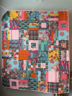 Patchwork Quilt Patterns, Scrappy Quilts, Easy Quilts, Applique Quilts, Bohemian Quilt, Boho, Quilting Projects, Quilting Designs, Chenille Quilt