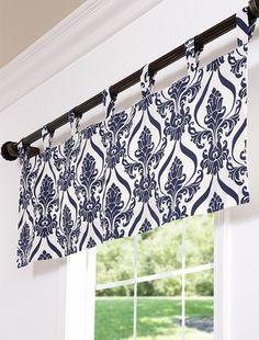window valance custom tabs black floral by cortinados pinterest