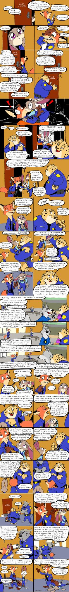 Zootopia Caught by Eric Schwarts - colorized