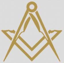 Cross Stitch Chart Pattern of Freemasons Simple Graphic Logo