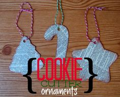 cookie cutter ornaments (kid craft monday)