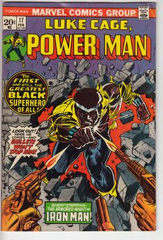 "Luke Cage Power Man 17 Feb 1974 Marvel ""First Black Superhero"" Comic   eBay"
