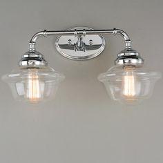 Timeless Schoolhouse Bath Light   2 Light