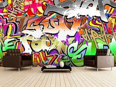Urban Graffiti Art wall mural room setting