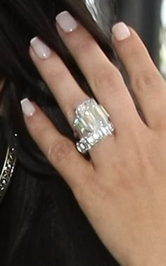 Kim Kardashian's Wedding Set- Never thought I'd say this but it's too big. I think the band should have been really thin.