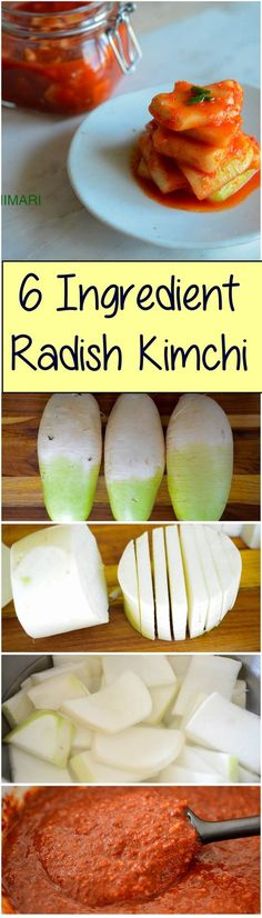 Korean Radishes are sweet and crunchy this season. If you wanted to try making kimchi, try this easy 6 ingredient Radish Kimchi. | Kimchimari.com