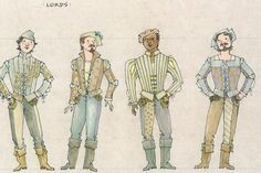 Ever After musical costume concept art - Jess Goldstein - Lords