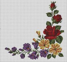 Cross Stitch, Handmade, Patterns, Poppies, Cross Stitch Flowers, Paths, Towel, Amor, Vestidos