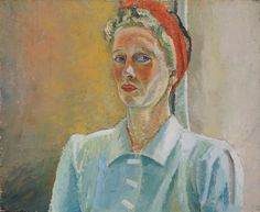 Mel, the Titanic captain's daughter  David Rolt In his early twenties David Rolt formed a relationship with Mel Russell-Cooke, daughter of the captain of the Titanic. A vivacious woman who drove fast cars and held a pilot's licence #feminist #woman #portrait #oil #titanic #british #modern #history #rolt #headscarf