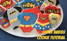 When I get prego, n if its a boy, I want these at my baby shower lol --- Superhero Themed Party