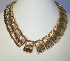 Vintage Egyptian Revival Style Necklace Gold by GretelsTreasures