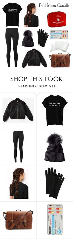 """Full Moon"" by emmmmii ❤ liked on Polyvore featuring Everlane, The Row, LullaBellz, Brixton and Moschino"