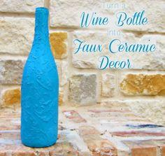 Faux ceramic bottle