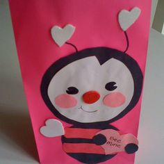 Preschool Valentine Crafts, Preschool Projects, School Art Projects, Preschool Ideas, Valentines Day Bags, My Sweet Valentine, Valentine Ideas, Cute Crafts, Kid Crafts