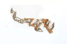 MARTIN VIECENS | Sculptural object |  Recycled wood | Assemblies | 50x150cm Recycled Wood, Cuff Bracelets, Recycling, Sculpture, Jewelry, Salvaged Wood, Objects, Jewlery, Jewerly
