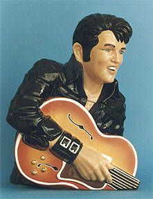 Elvis w/guitar Cookie Jar