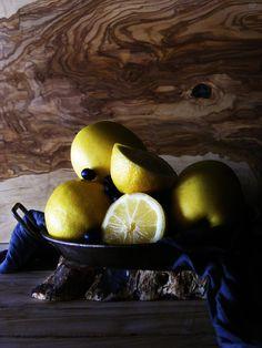 Lemons, apples & blueberries