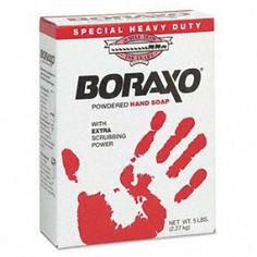 Aw Mendenhall #02303 5lb Heavy Duty Powder Hand Soap by Boraxo. $12.20. Boraxo, 5 LB Heavy Duty Powdered Hand Soap, Per Package.