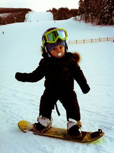 Baby Snowboarder! Too cute!
