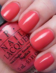 OPI Suzi's Hungary AGAIN! Pretty coral color!!!