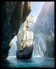 """cinemagorgeous: """" Incredibly gorgeous concept art for Assassin's Creed IV: Black Flag by artist Raphael Lacoste. """""""