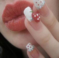 red and white nails!