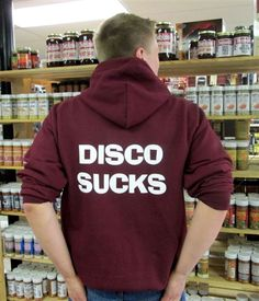 "TASTY LICKS BBQ SUPPLY ""DISCO SUCKS"" HOODIE"
