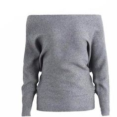 Quality Simplee Off shoulder sexy elastic knitting pullover female Bat long sleeve knitted sweater women Fashion jumper pull knit shirt with free worldwide shipping on AliExpress Mobile Batwing Cardigan, Batwing Sleeve, Pullover Sweaters, Long Sleeve, Bat Sleeve, Jumpers For Women, Sweaters For Women, Off Shoulder Sweater, Cardigan Fashion