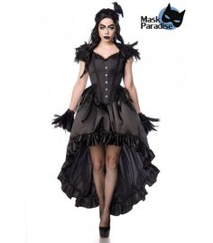 Gothic Crow Lady schwarz - AT80158 - FashionMoon Steampunk Mode, Pin Up Mode, Rockabilly Mode, Gothic Mode, Party Mode, Corsage, Crow, Lady, Style