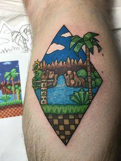 New Sonic Tattoo by @rubywolftattoos in Sydney