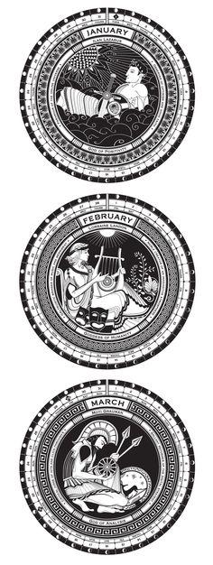 Geek Gods Calendar 2013 by Dani Loureiro, via Behance