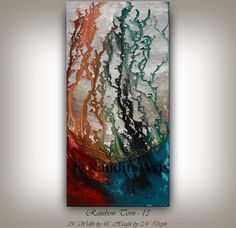 Oil ABSTRACT ART Painting Drip Artwork Brown Gold by largeartwork ...