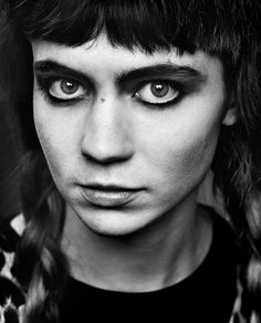 ♀  Black & White Portrait - Grimes by Phil Sharp